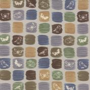 Moda A Field Guide by Janet Clare - 3574 - Field motifs on colour swatches - 1362 14 - Cotton Fabric